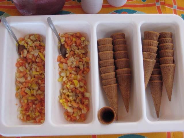 Dia de Festa tem salada de fruta na casquinha de sorvete